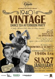 1940s Vintage Dance Tea Afternoon Party by Jitterbugs SKG, Thessaloniki, Jan 27, 2019.